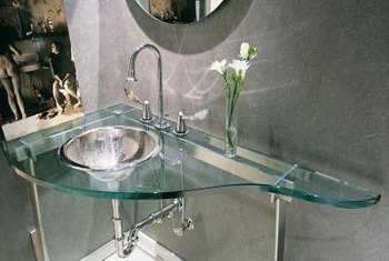 A corner sink can provide a striking focal point.