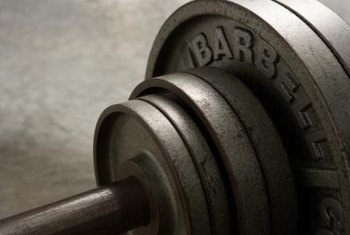 Basic round, iron plates are affordable and effective for barbell sets.