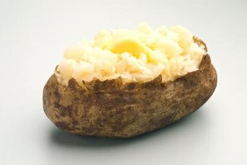 A baked potato contains almost a quarter of your daily potassium requirements.