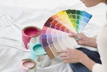 Latex paint comes in flat, eggshell, satin, semigloss and gloss finishes.