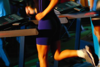 A treadmill enables you to set a hard pace and go.