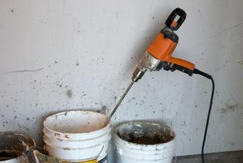 Clean the mixing paddle and buckets for reuse with other projects.