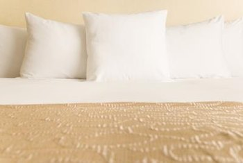 Use texture, color and pattern to spruce up your corner bed.