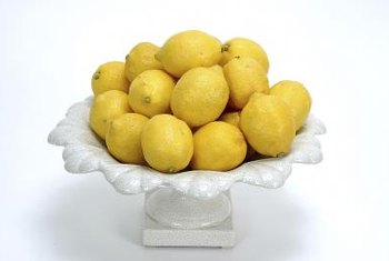 Dwarf lemon trees produce fruit year round.