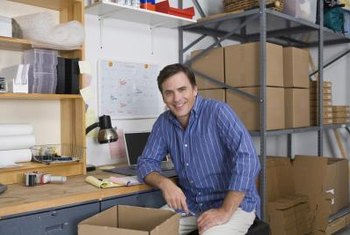 Warehouse offices create a more formal space to receive business clients.