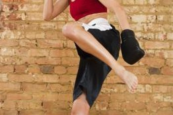 Kickboxing makes for a high-impact aerobics workout.