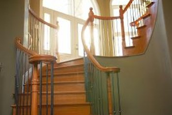 Stairs need extra coats of finish or, alternatively, frequent touch-ups.