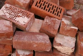 Although rectangular, when cut and set properly, bricks can create curves.