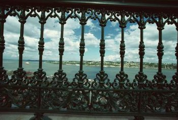 Wrought iron railing often uses intricate designs in its structure.