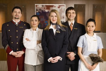 Large hotels hire hundreds of employees to support their operations.