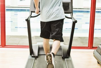 Use an incline on the treadmill to emphasize your glutes.