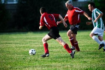 Soccer uses muscles for running, kicking, shuffling and other footwork.