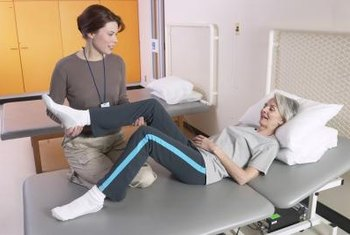 Physical therapists can help injured patients to minimize pain.