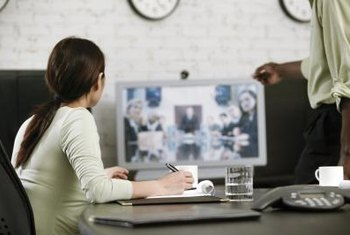 Online conference facilitates remote collaboration.