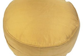 An oversized round pillow can be useful for extra seating.