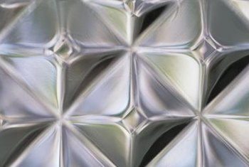 A number of decorative textures are available on glass blocks.