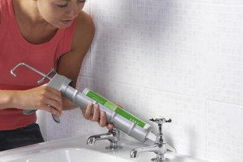 Caulk around sinks and tubs develops stains with age.