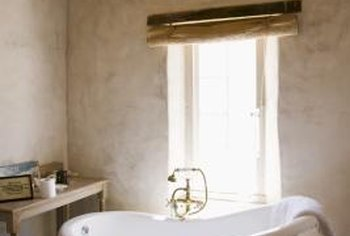 Clawfoot tub shower rods are often circular.