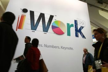 Apple's iWork suite includes applications that prepare documents, spreadsheets and presentations.