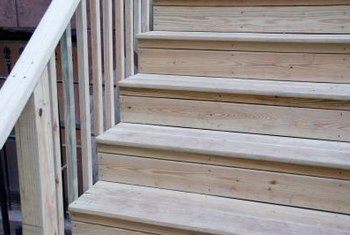 Repair weathered steps with resin glue to make them usable again.