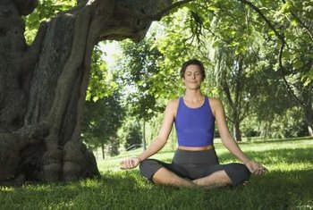 Practicing yoga outside helps you feel connected to nature.