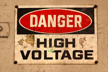 A sign is a great warning, but a high-voltage indicator better senses a hot line.