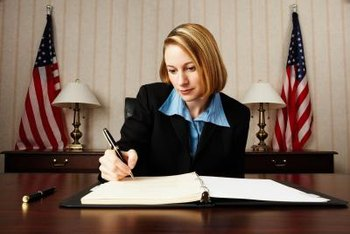 Individuals with business degrees have many job opportunities to work in government agencies.