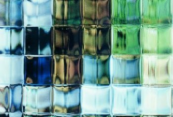 Colored glass block is as ornamental as a medieval stained glass window.