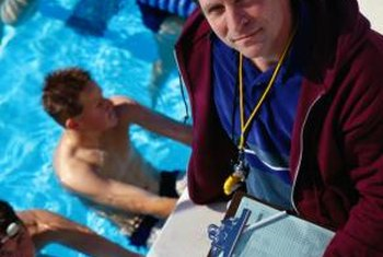 Swimming instructors work with clients of all skill levels.