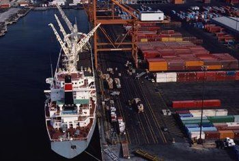 "In ""FOB destination"" shipping, the seller covers costs to ship goods to a port."