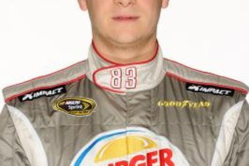 Corporate racing endorsements promote Burger King franchisees.