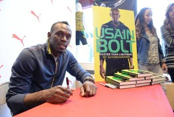 Usain Bolt maximizes his stride length without ever risking a heel strike.