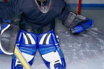 Lacing your pads properly keeps your legs protected.