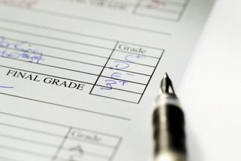 Traditional letter grades account for such factors as schoolwork, class participation and attendance.