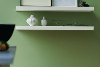 Sage green walls are friendly and welcoming.