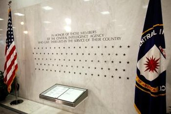 The CIA memorial wall commemorates employees killed while serving the agency.