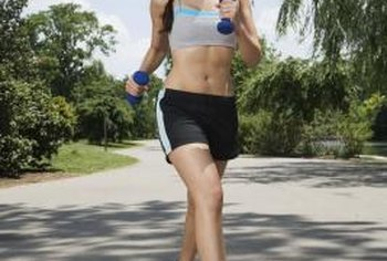 Using hand-weights is not the only way to tone while walking.