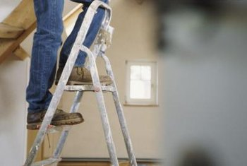 Don't scrimp on height when choosing a ladder for ceiling repairs.