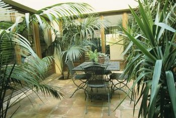 Add seating to create an inviting space in your atrium.