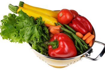 Colorful vegetables contain antioxidants.