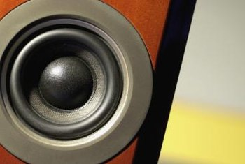 Add internal dampening materials to a speaker to reduce the vibrations it creates.