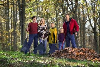 Make raking leaves a family activity.