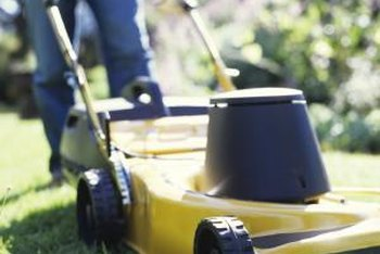 Take proper care when mowing grass after rain.