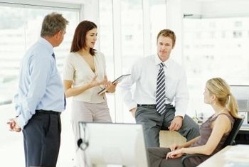 An atmosphere in which employees naturally congregate to share ideas is part of a quality workplace.