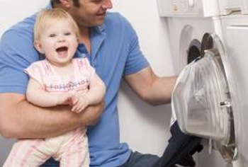 Know the whereabouts of your baby when the washer's door is open.