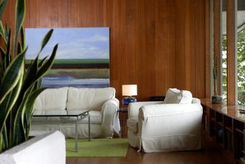 Use lacquer on wood walls for a natural, but glossy look.