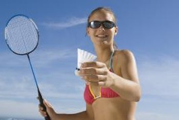 You can play or practice badminton almost anywhere.