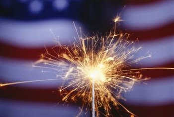 Use sparklers to introduce first graders to fireworks.