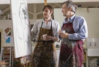 Some art professors teach college students multiple mediums of art.