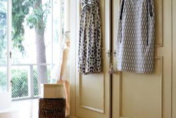 Sliding doors can save valuable space in your bedroom.